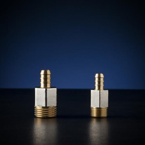 PROCESSED NICKEL PLATED MALE HOSE CONNECTORS